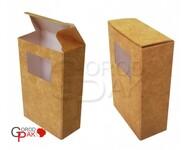050х025х080 Коробка картонная с прозрачным окном_Пко