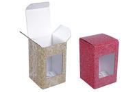 060х060х095 Коробка из микрогофрокартона с окном_Пмо