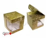 074х074х095 Коробка из микрогофрокартона с угловым окном_Пмо