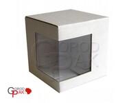 077х077х077 Коробка из микрогофрокартона с угловым окном_Пмо