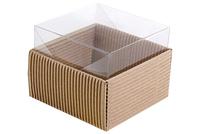 100х100х070 Коробка, прозрачная крышка внутрь_Ткв