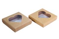 115х115х025 Коробка из картона с прозрачным окном_Ткко