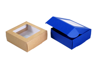 130х130х050 Коробка из картона с окном_Чкп