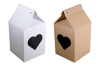 130х130х170 Коробка из микрогофрокартона с фигурным окном_Пмо