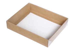 Крафт коробки с прозрачной крышкой