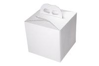 163х163х160 Коробка картонная с декоративной ручкой_ПРк