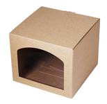 165х165х140 Коробка из микрогофрокартона с окном аркой_Пмо