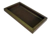 165(185)х085(105)х015 Картонный лоток с широкими бортиками в прозрачной коробке