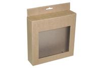180х045х180 Картонная коробка с прозрачным окном_Пко  с еврослотом