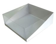 205х205х090 Коробка с прозрачной крышкой трапеция, встроенное _Ткп МОС
