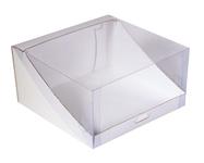 205х205х110 Коробка с прозрачной крышкой для торта _Тмп_МОС