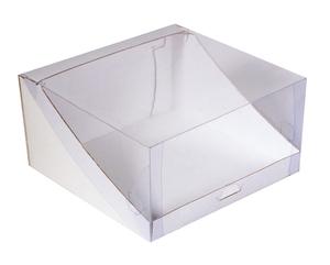 Коробка для торта с прозрачной крышкой