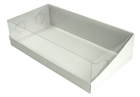 205х105х050 Коробка с прозрачной крышкой трапеция, встроенное _Ткп_MOC