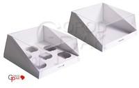 210х210х100 Коробка с прозрачной крышкой для торта_Ткп