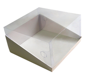 215х215х120 Коробка с прозрачной крышкой трапеция_Ткв