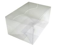 220х150х110 Коробка прозрачная, фигурные клапаны на крышке _Пп