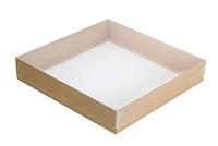 220х220х040(030) Коробка, прозрачная крышка снаружи_Ткп