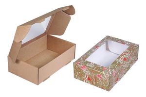 Коробка из микрогофрокартона с окном