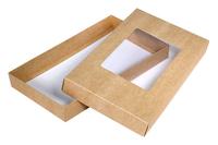 240х140х030 Коробка окном, дно и крышка из картона_Ткко