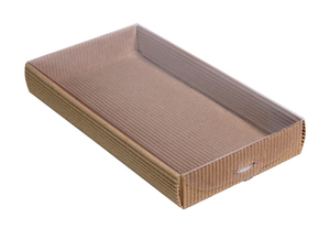 250х130х035 Коробка с прозрачной крышкой снаружи_Ткп