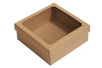 250х250х100 Тммо : Крафт коробки с окошком