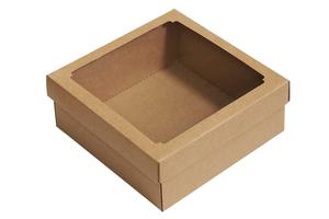 Крафт коробки с окошком