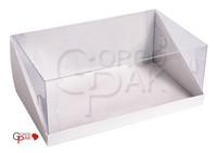255х155х100 Коробка с прозрачной крышкой трапеция и встроенным дном_Ткп