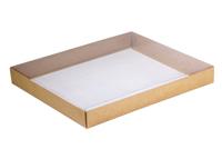 260х210х030 Ткп, картонная коробка с прозрачной крышкой внутрь