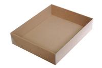 290х235х060 Тмп, картонная хлебница не без; прозрачной крышкой