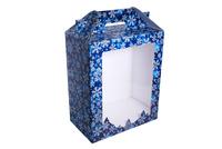 300х175х360 Коробка с фигурным окном и вставкой на дно_ПРмо