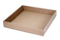 300х300х048 Коробка, прозрачная крышка снаружи, встроенное дно_Ткп