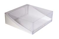 300х300х105  Коробка с прозрачной крышкой для торта_Тмп_МОС