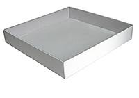 300х300х048 Коробка, прозрачная крышка внутрь, встроенное дно_Ткп