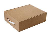 330х260х100 Коробка из микрогофрокартна c пластиковой ручкой_Чм МОС