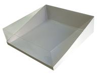 330х330х100 Коробка с прозрачной крышкой трапеция и вставкой на дно_Ткп