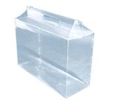 340х130х230 Коробка прозрачная в виде чемоданчика с ручкой _Прп