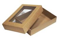 360х260х070 Коробка, крышка со склейкой и окном_Тмко эко