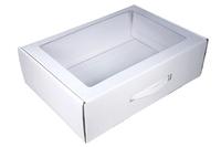 370х270х110 Коробка чемодан (склейка  дно) с окном_Чмп