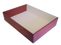 430х320х070 Тмп, белая коробка с прозрачной крышкой
