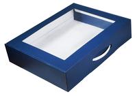 470х360х100 Коробка-чемоданчик с окном и ручкой_Чмп