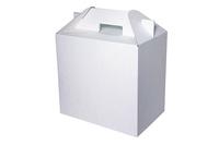 Белая подарочная коробка – ПPм 300x175x280 мм